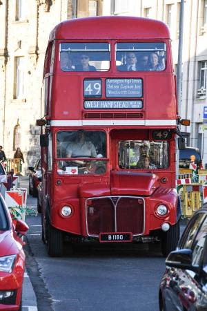 A London bus service to the Residence was provided
